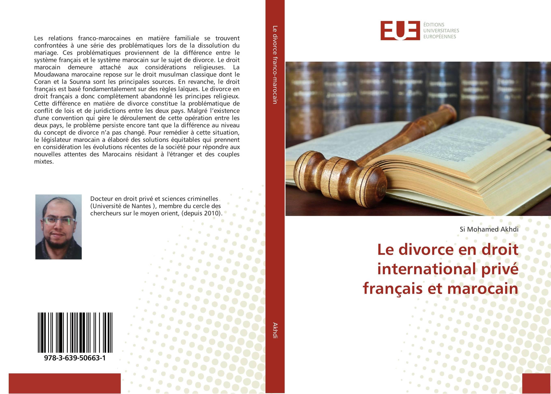 9783639506631-Le-divorce-en-droit-international-prive-francais-et-marocain-Si