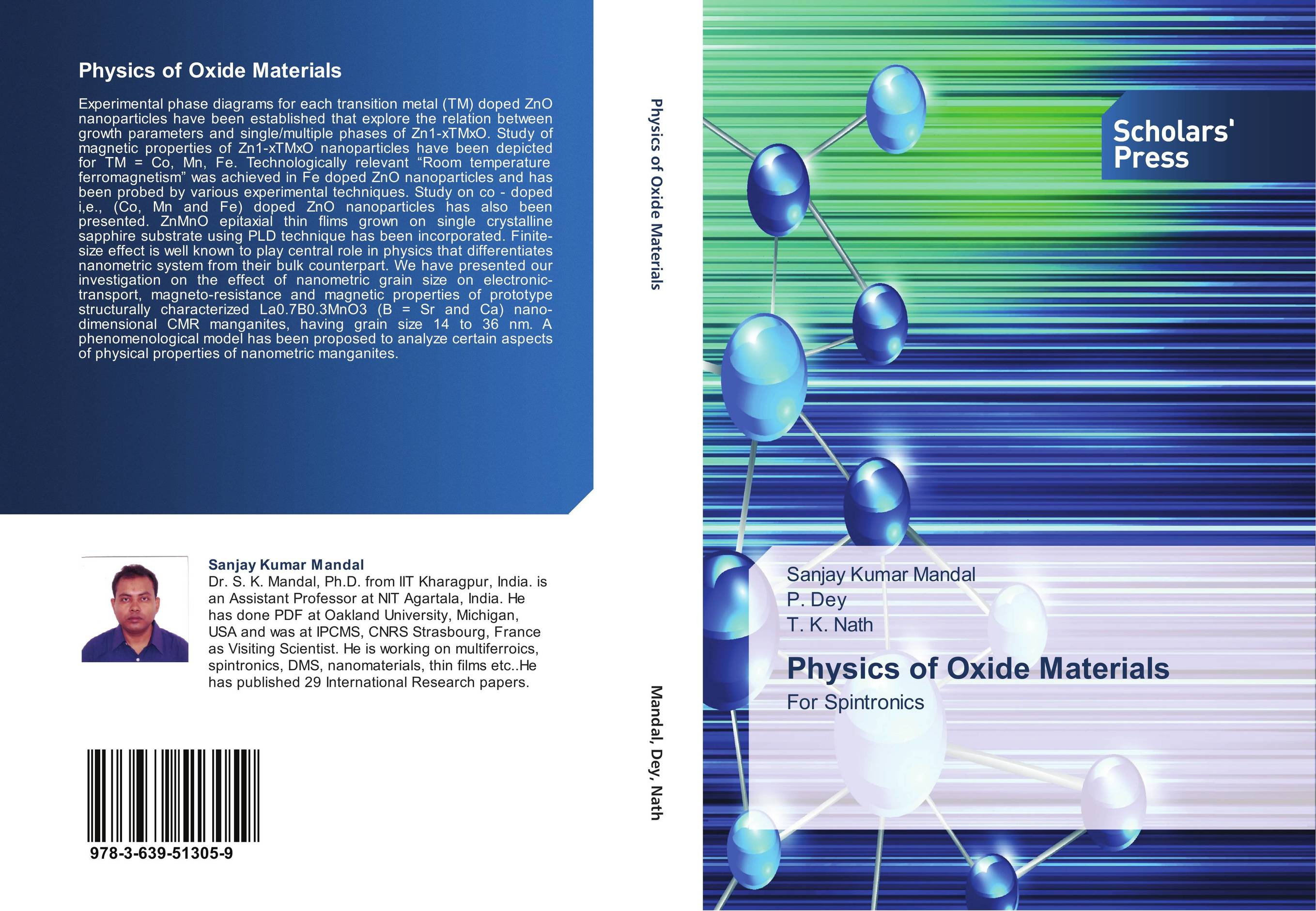 9783639513059 Physics of Oxide Materials Sanjay Kumar Mandal,P. Dey and T. K.