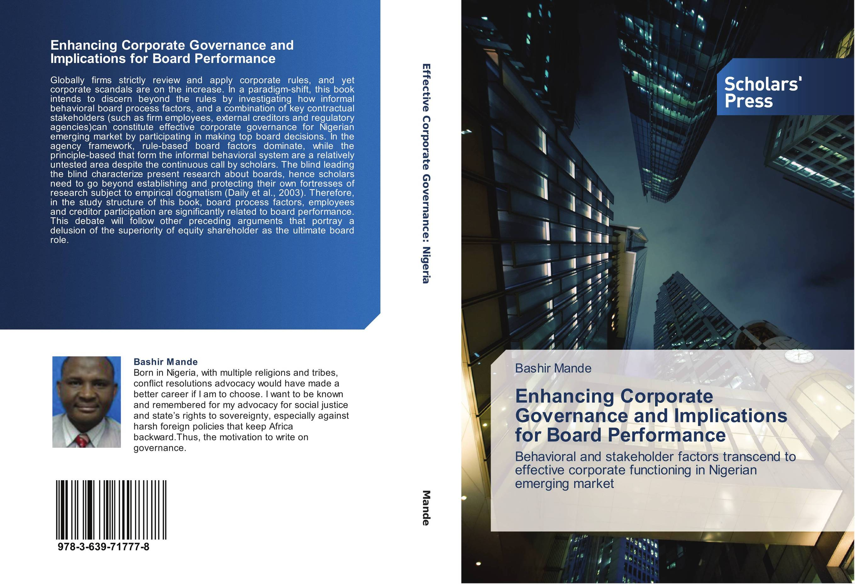 does corporate governance enhance firm performance Private negotiation, corporate governance and firms' financial performance: a major reason why extant research does not show the nature of the relationship between negotiations by institutional shareholders and firms is that the details of negotiations are normally not shared with outsiders [22.