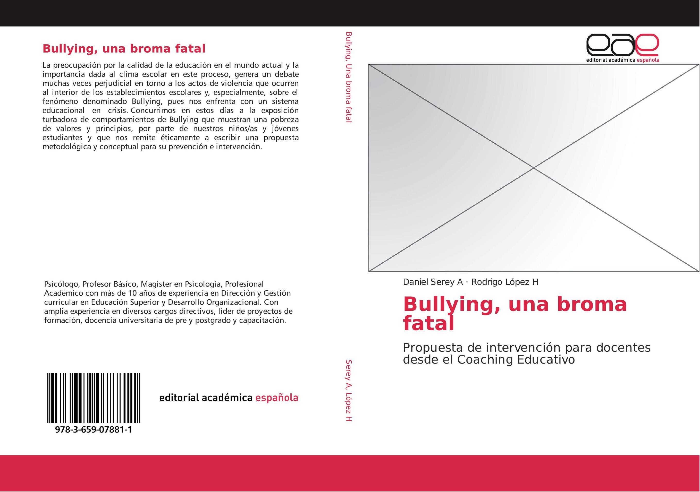 Bullying, una broma fatal :: Librería Agrícola Jerez