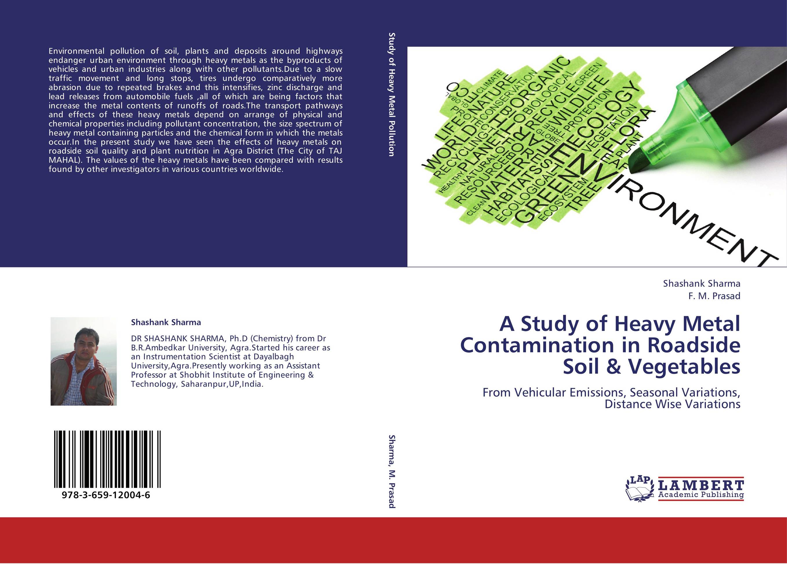 9783659120046 A Study of Heavy Metal Contamination in Roadside S & Vegetables