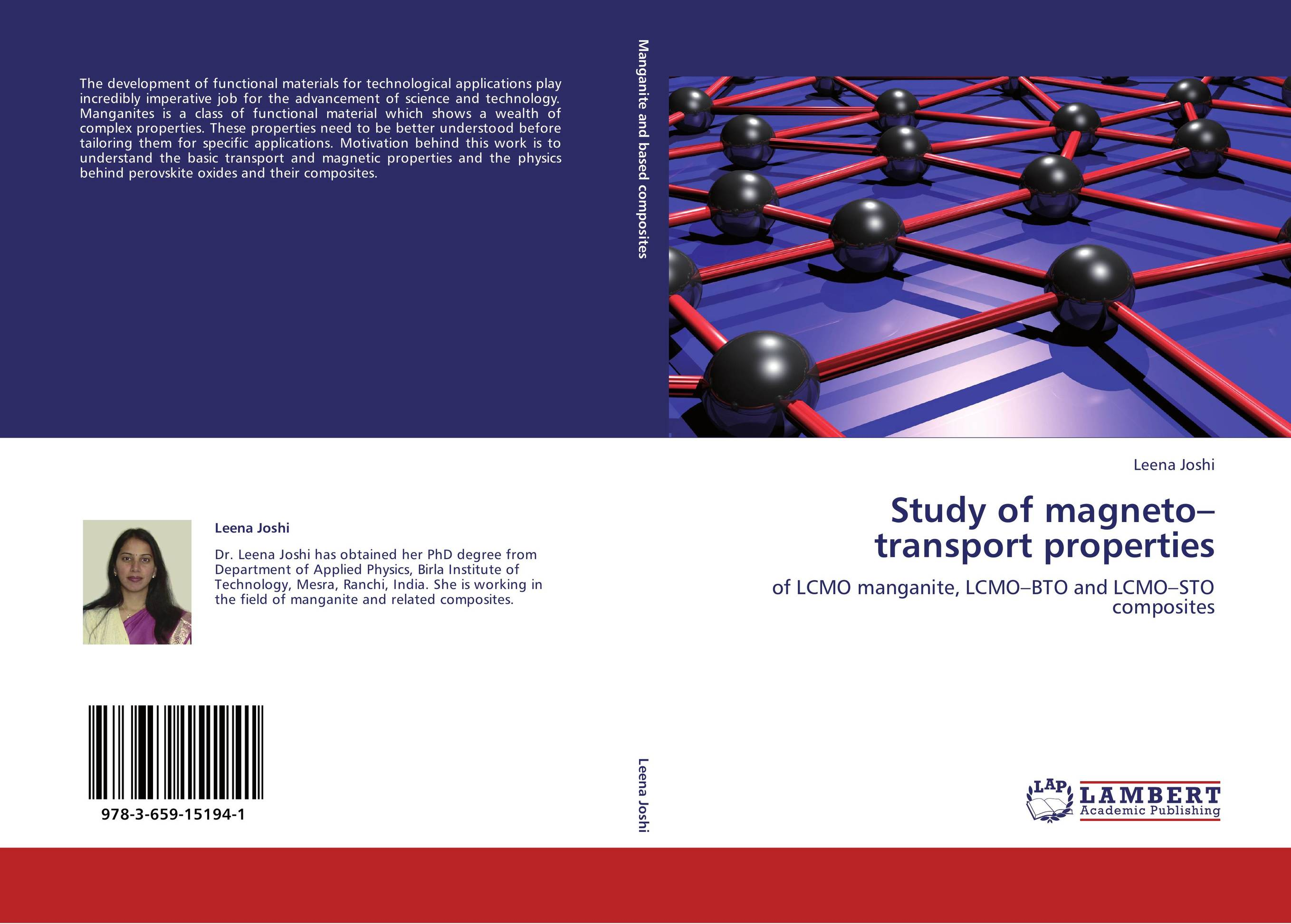 9783659151941 Study of magneto–transport properties Leena Joshi