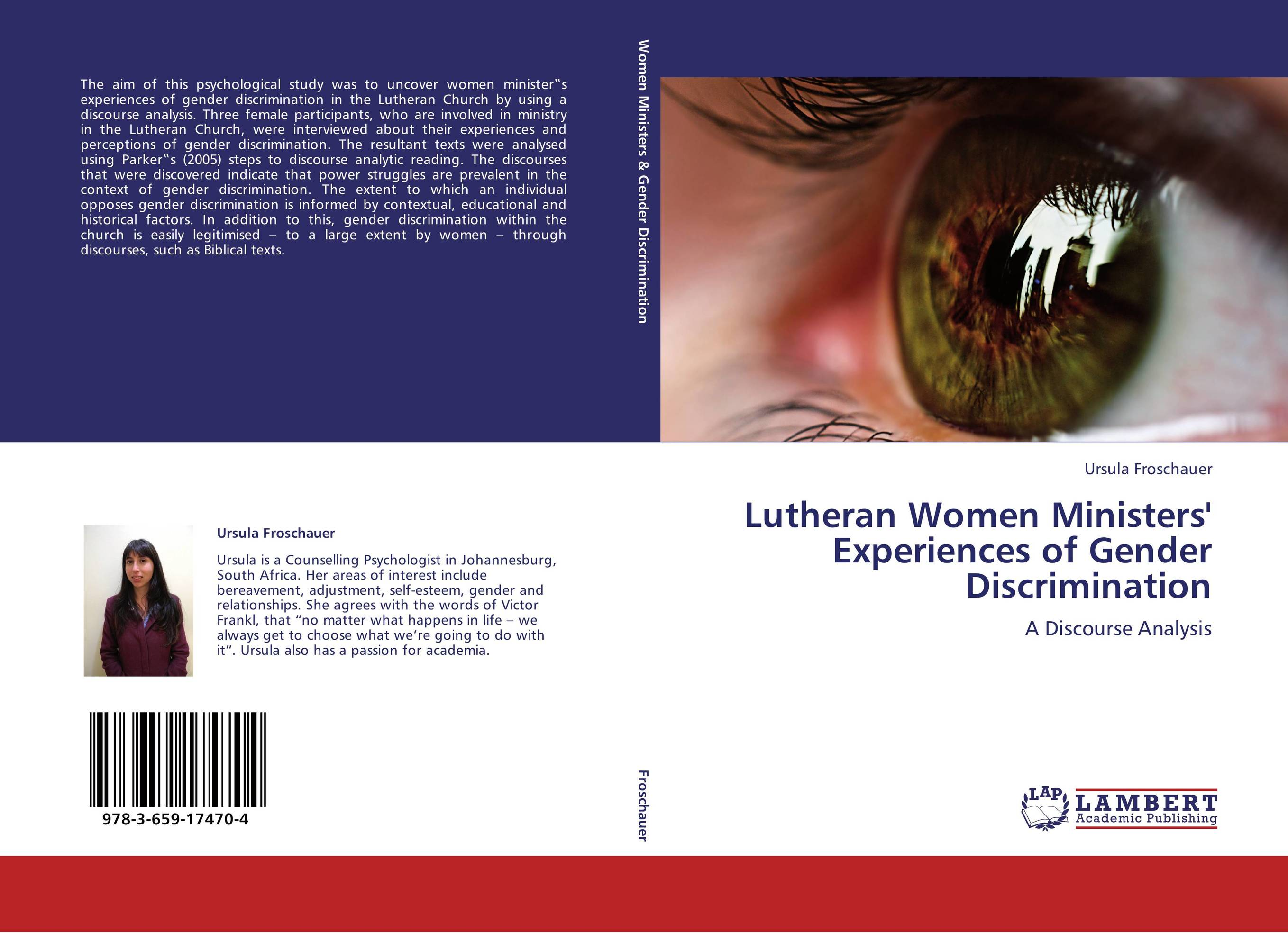 analysis on gender discrimination When gender discrimination happens in the workplace, the discriminated party never reaches the level needed to have the control and autonomy at work when a group, say women, feels as if they are being discriminated against just because of their sex, they are more likely to leave the company.