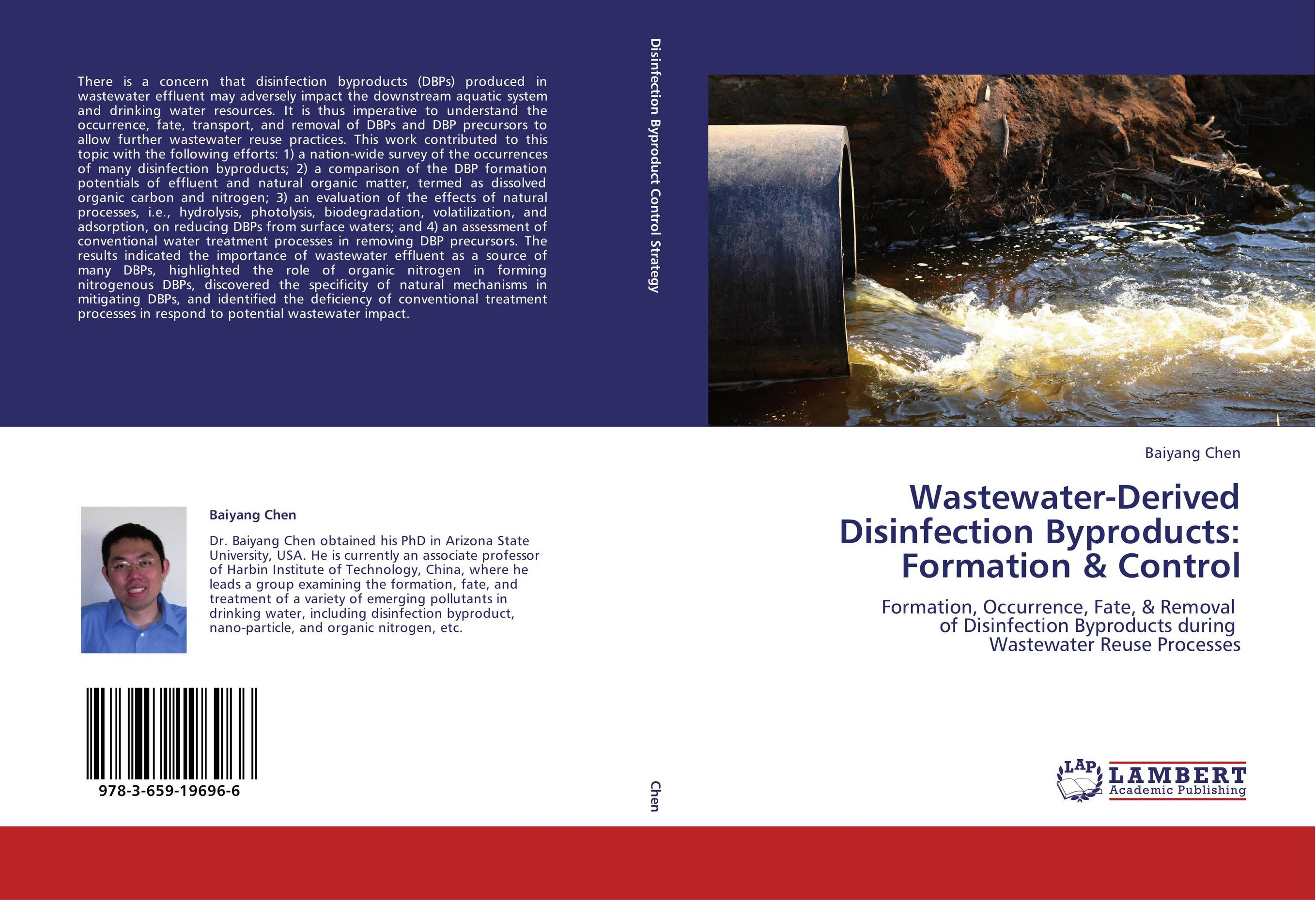9783659196966 WastewaterDerived Disinfection Byproducts Formation & Control