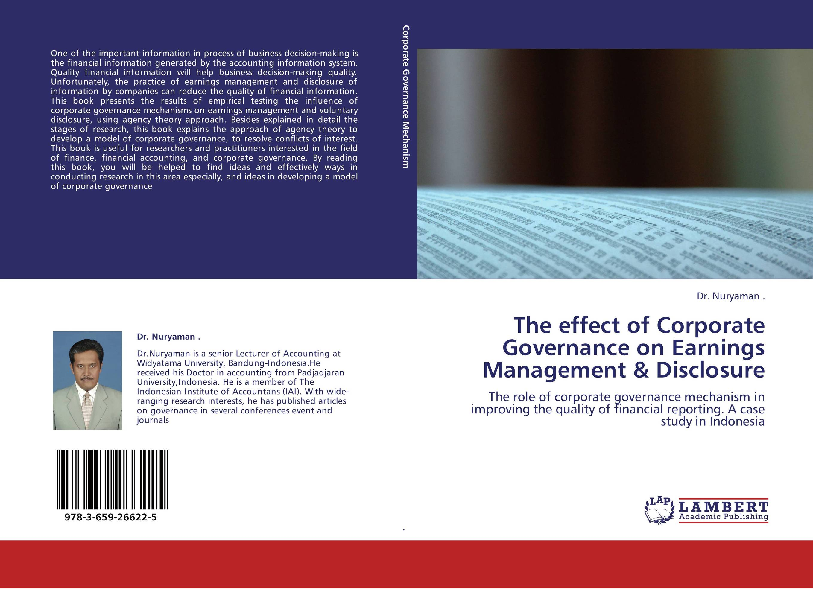 three essays on corporate governance and financial disclosure Corporate governance structures and practices continue to be important in determining the cost of capital in a global capital market australian companies must be equipped to compete globally and to.