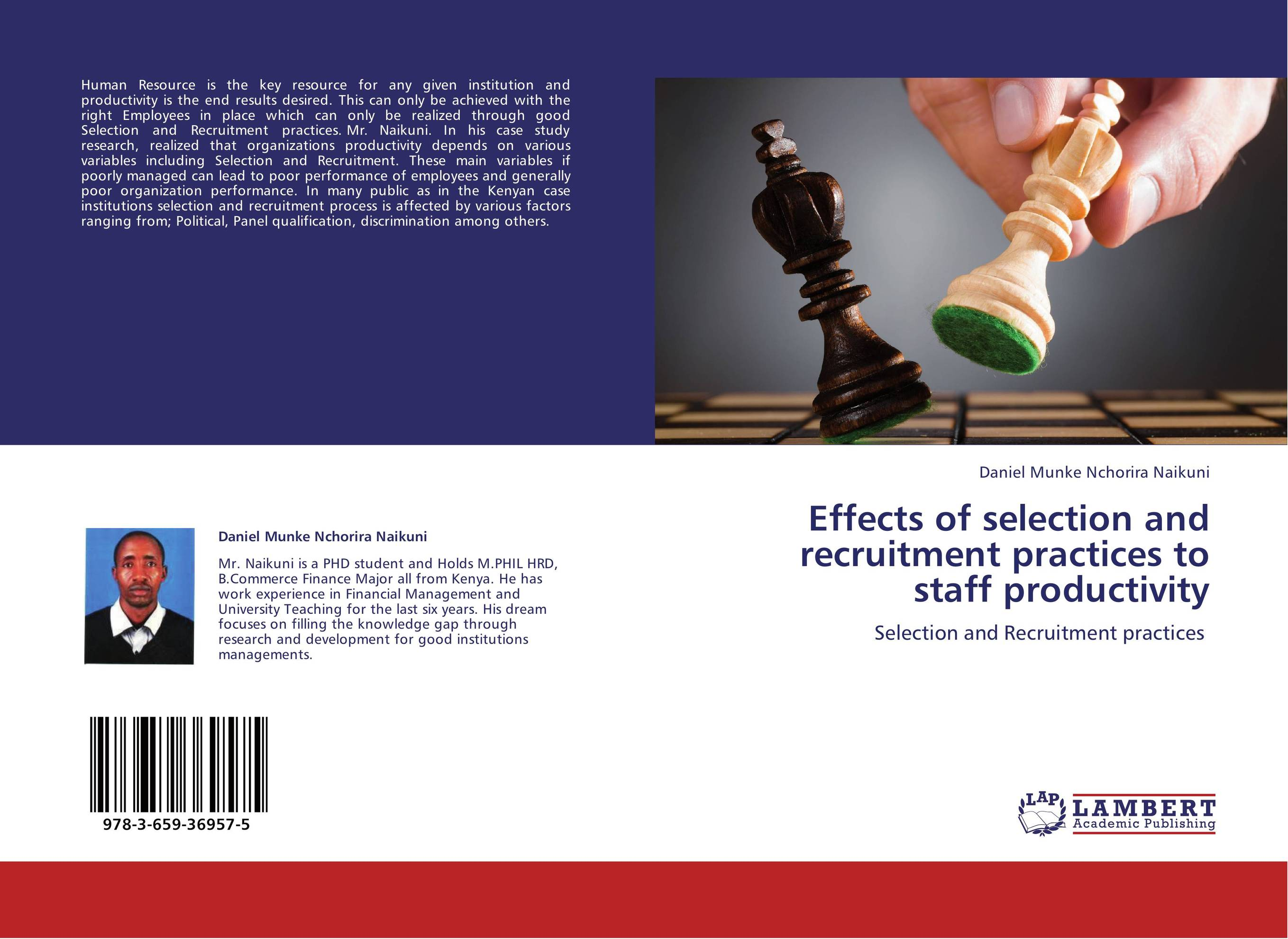 effect of training on staff productivity In this study, the research team studied working condition and employee productivity in manufacturing companies with the objective of investigating the effects of working condition especially working hours and workload on employee's productivity and.