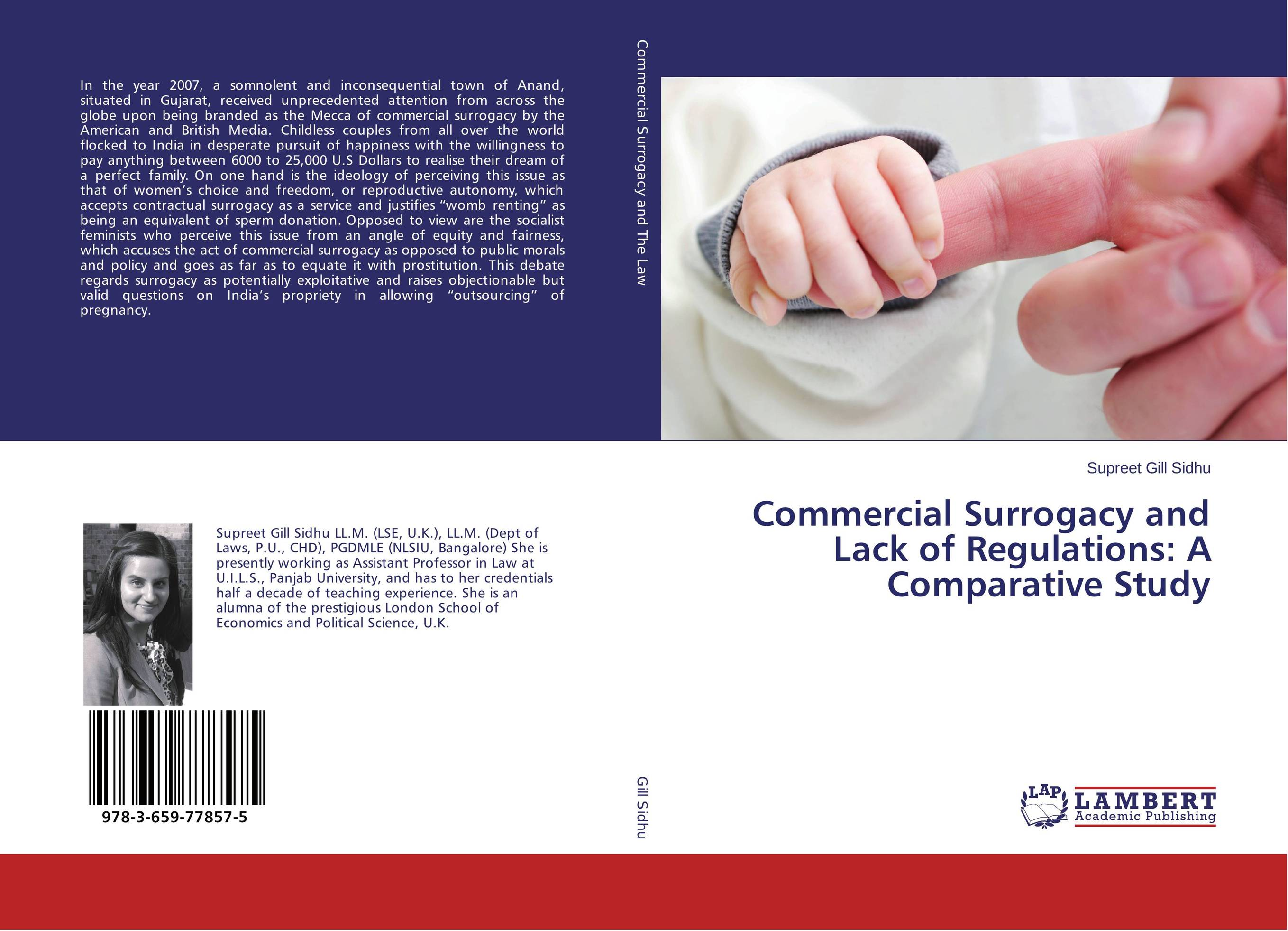 commercial surrogacy essay Commercial surrogacy and especially international surrogacy is a difficult matter it seems more ethical when the egg and sperm of a couple are fertilized outside the womb, and then the embryo is implanted in the surrogate mom.