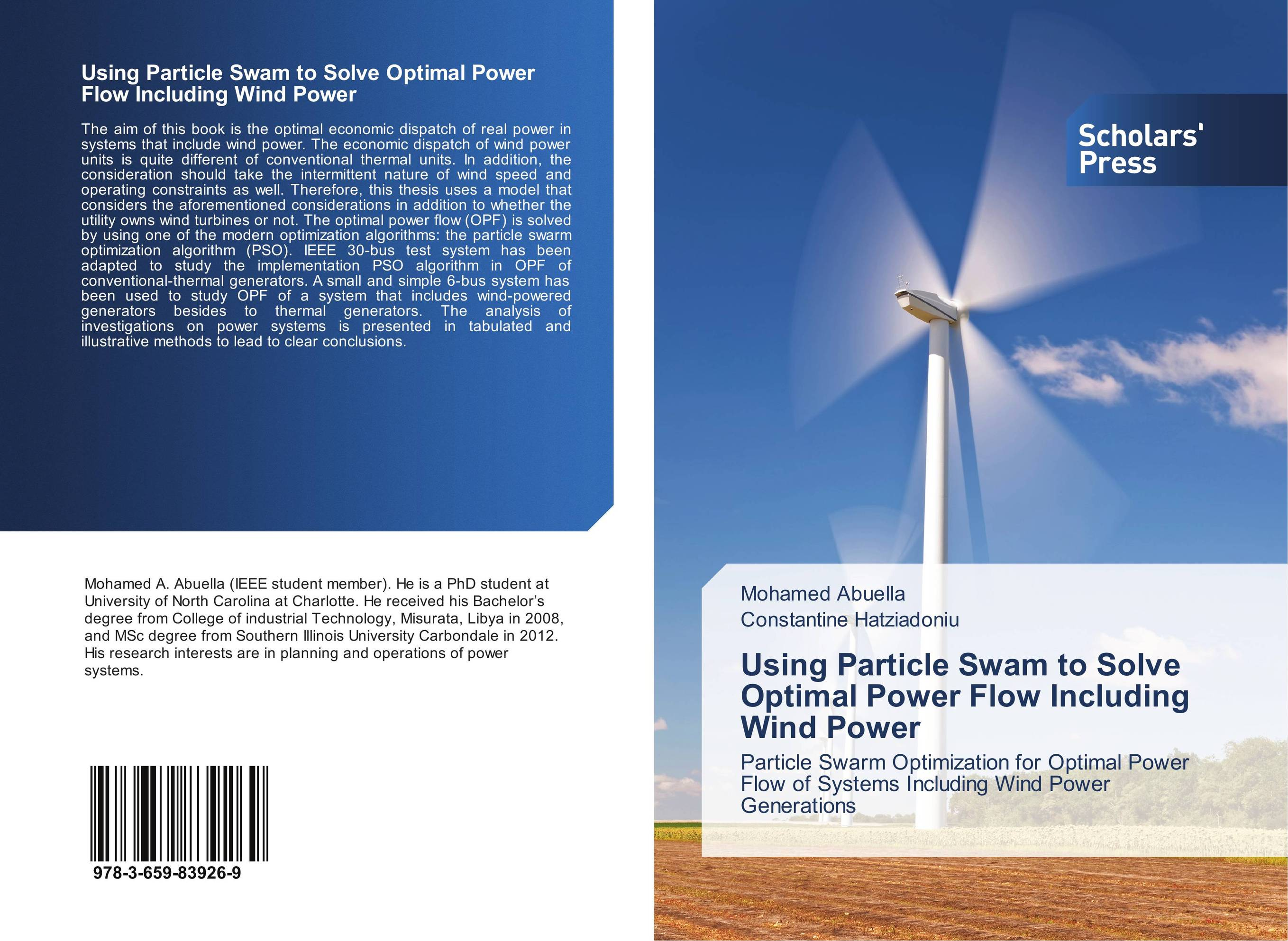 thesis on optimal power flow Optimal power flow, opf, in small islanded power systems, in which generated power of generator and loads depend on frequency and voltage and a formulation of the problem should.