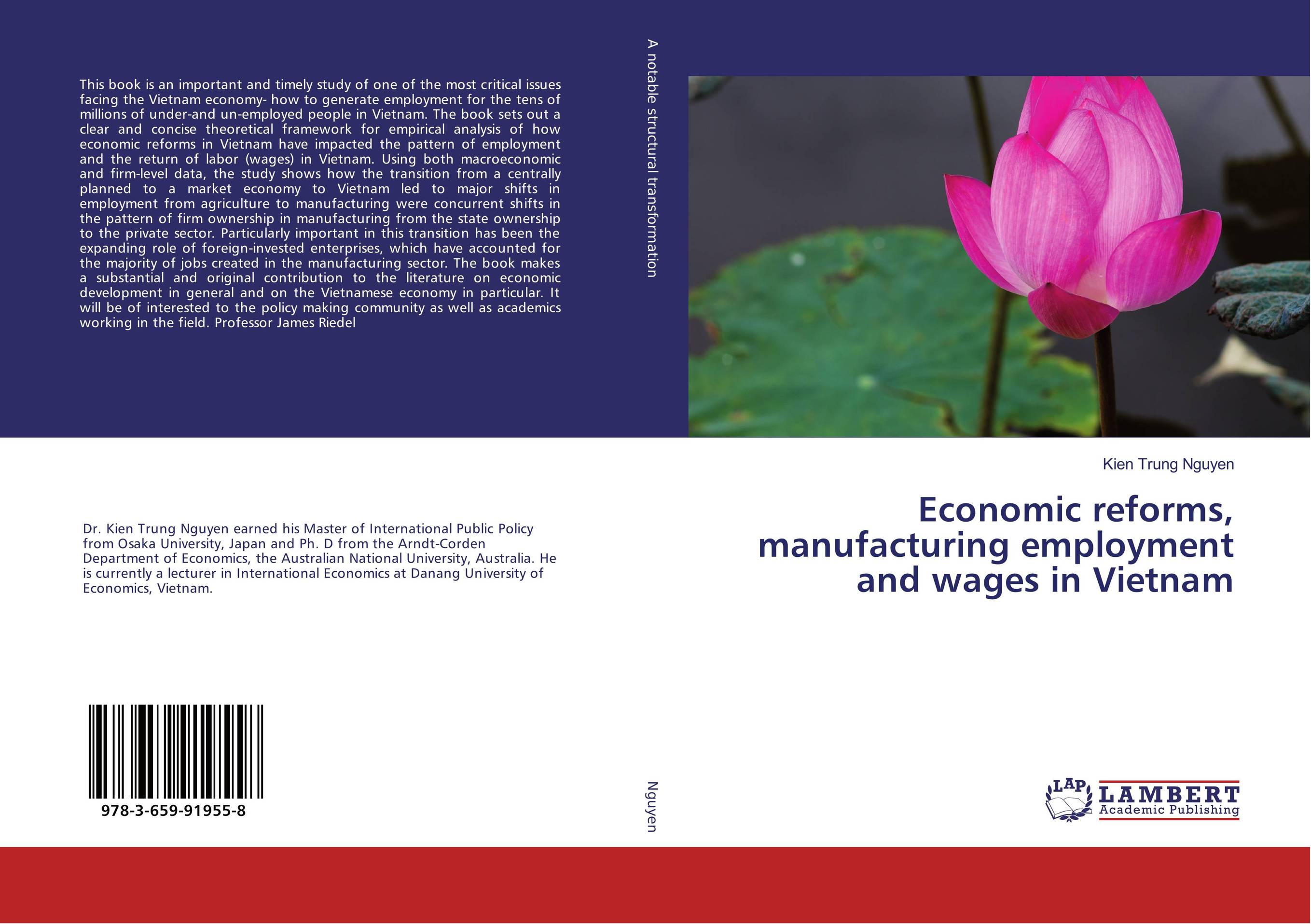 9783659919558 Economic reforms, manufacturing employment and wages in Vietnam