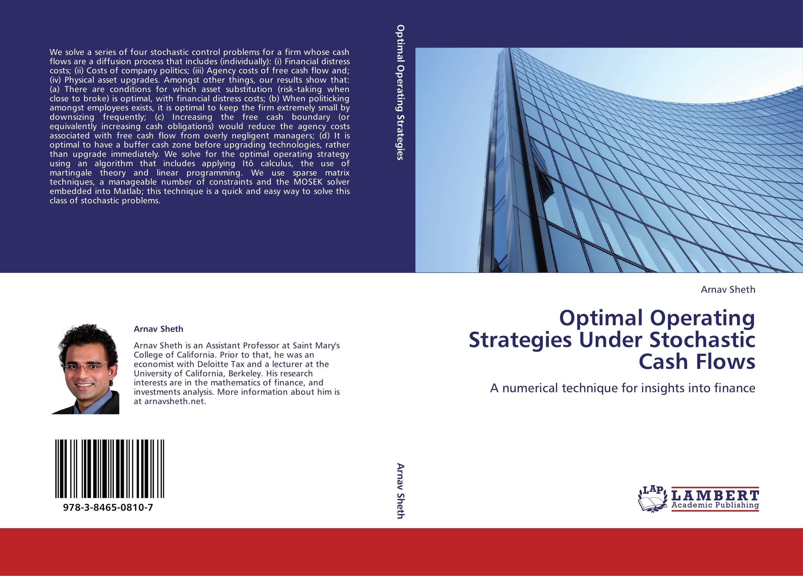 9783846508107 Optimal Operating Strategies Under Stochastic Cash Flows Arnav S