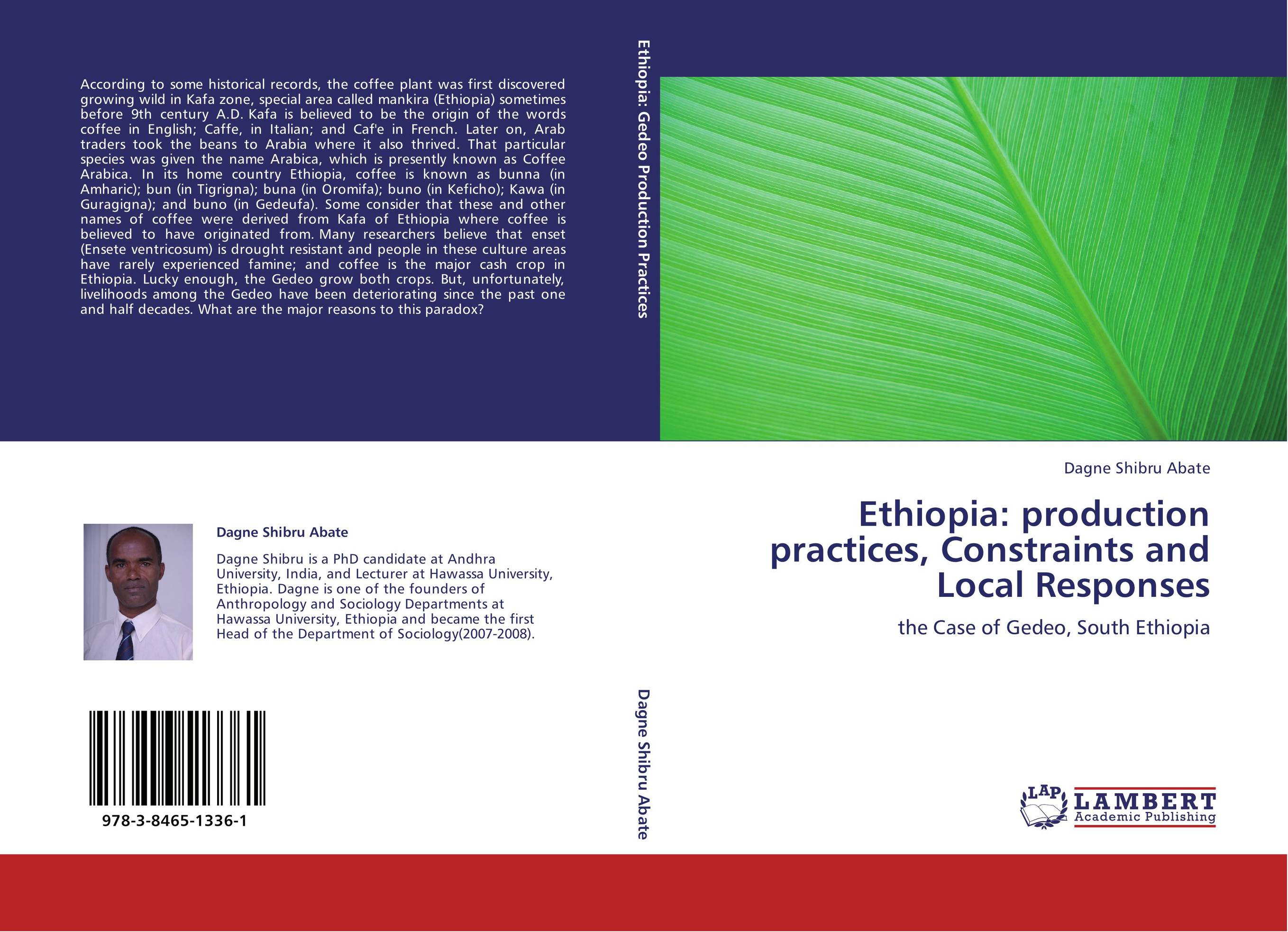 9783846513361 Ethiopia production practices, Constraints and Local Responses