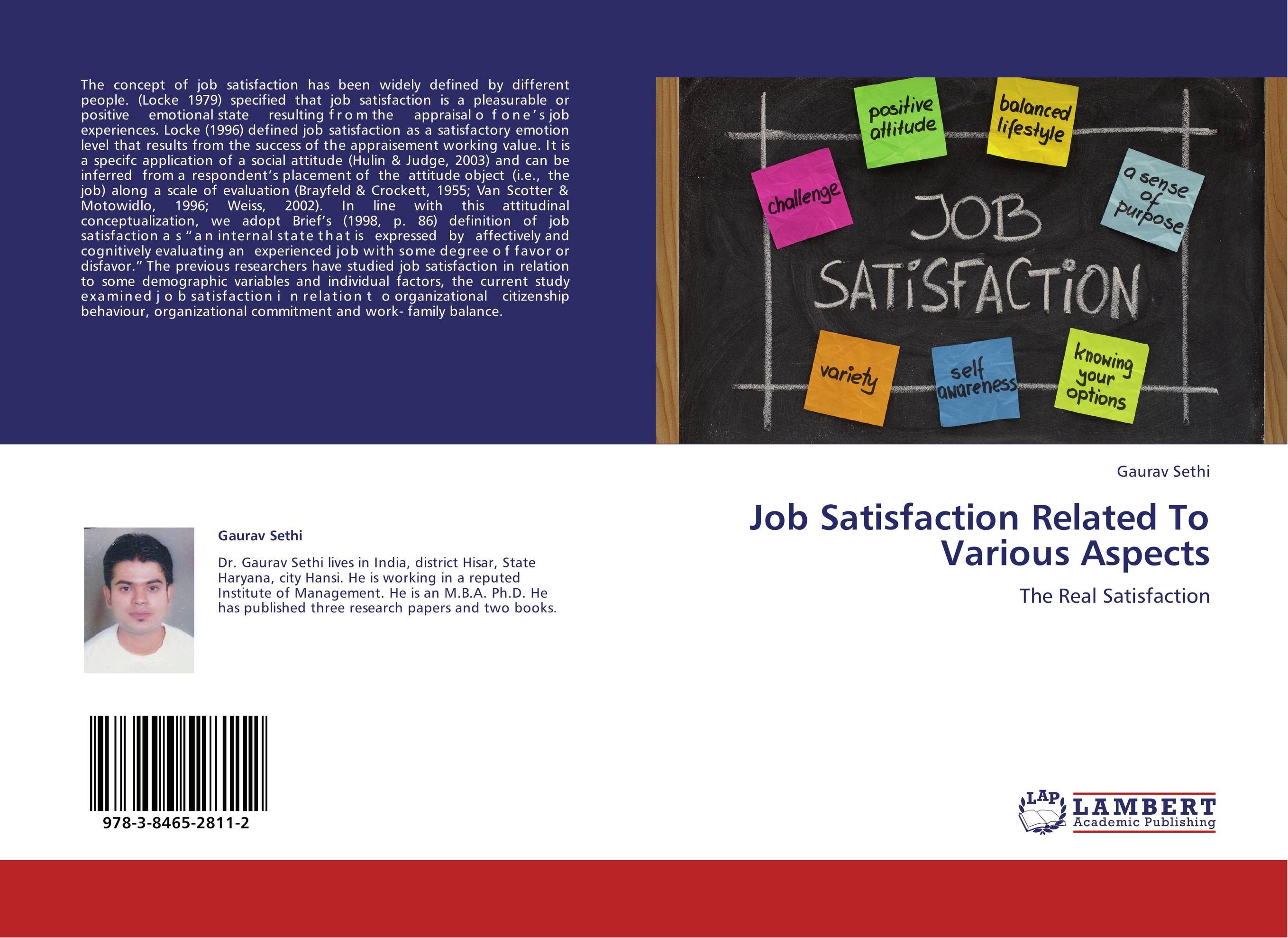 rationale about job satisfaction Extrinsic job satisfaction which were similar to the studies conducted previously on different sample occupations indicating that there is a distinction in occupations having 'cognitive skills' and 'mechanical skills.