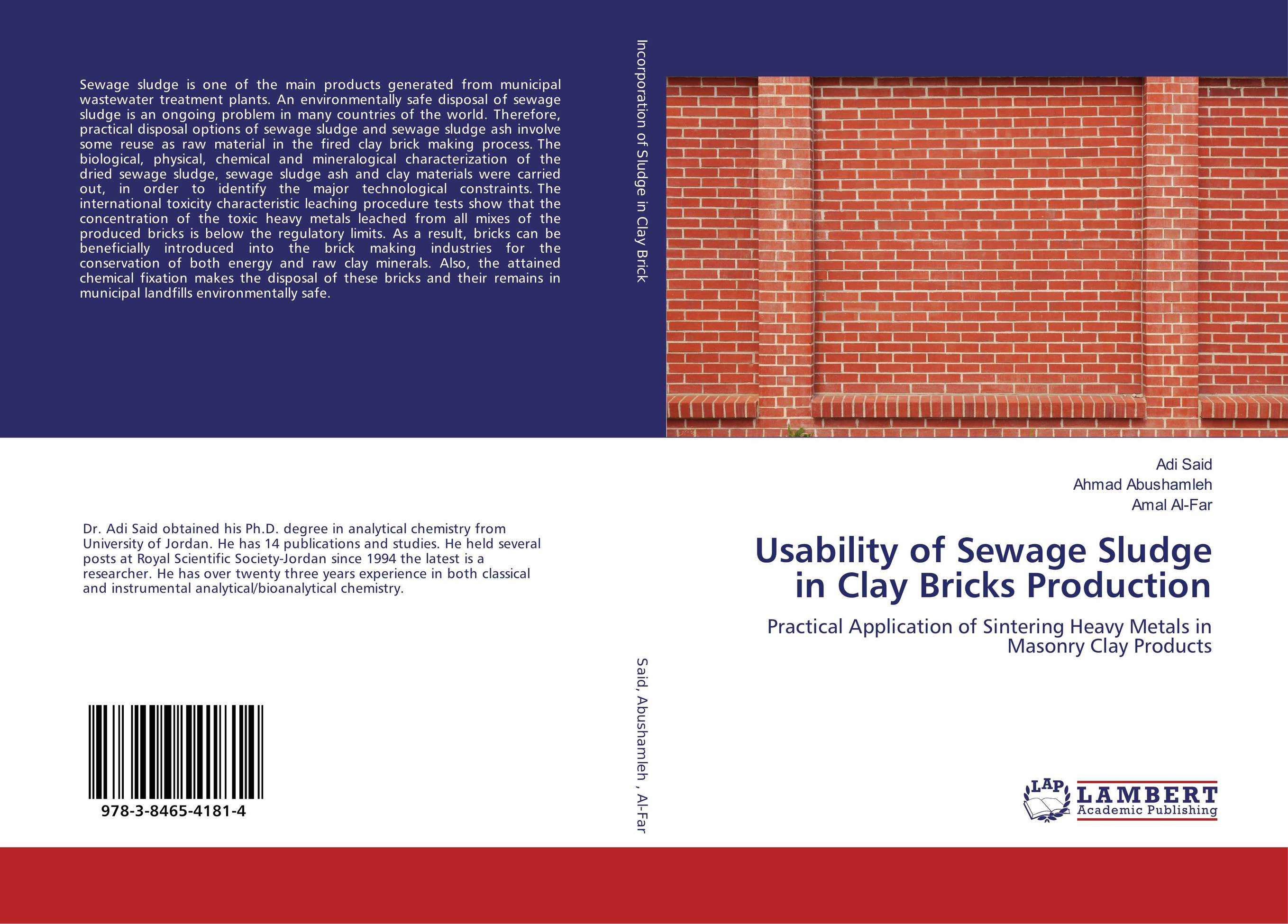 sewage sludge bricks thesis Prouty, m f, sludge amended brick manufacture as an ultimate disposal method, thesis presented to the university of maryland, at college park, maryland, in 1980, in partial fulfillment of the requirements for the degree of master of science.