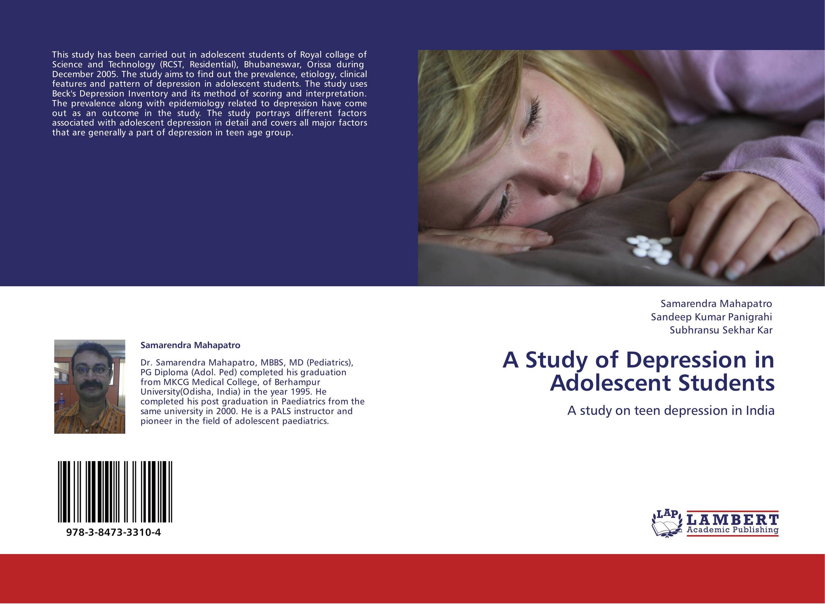 a discussion about the adolescent depression Depression in children can be triggered by a medical illness, a stressful situation, or the loss of an important person children with behavior problems or anxiety also are more likely to get depressed.