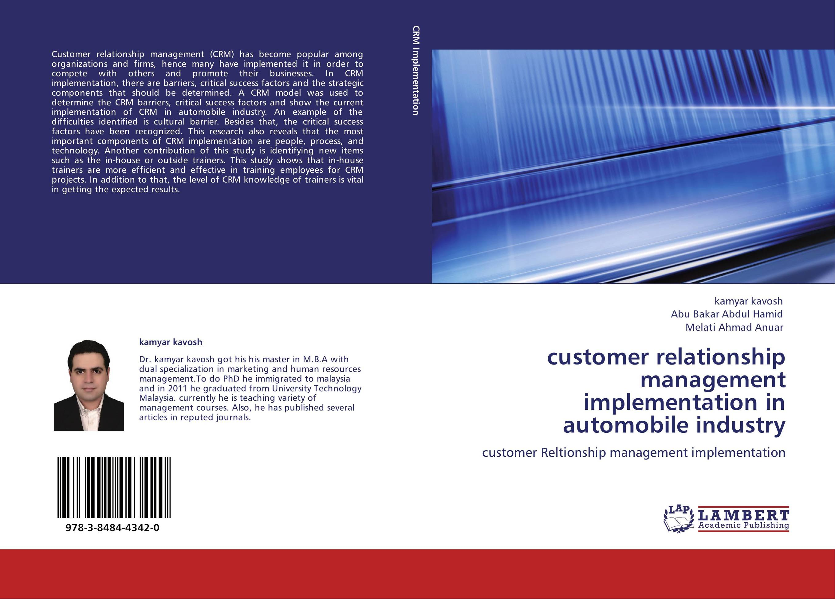 customer relationship management in automobile industry Information technology is a costly enabler of customer relationship management (crm) but crm programs coupled with smart technology and strategy may soon mean the end of the road for mass marketing in the auto industry.