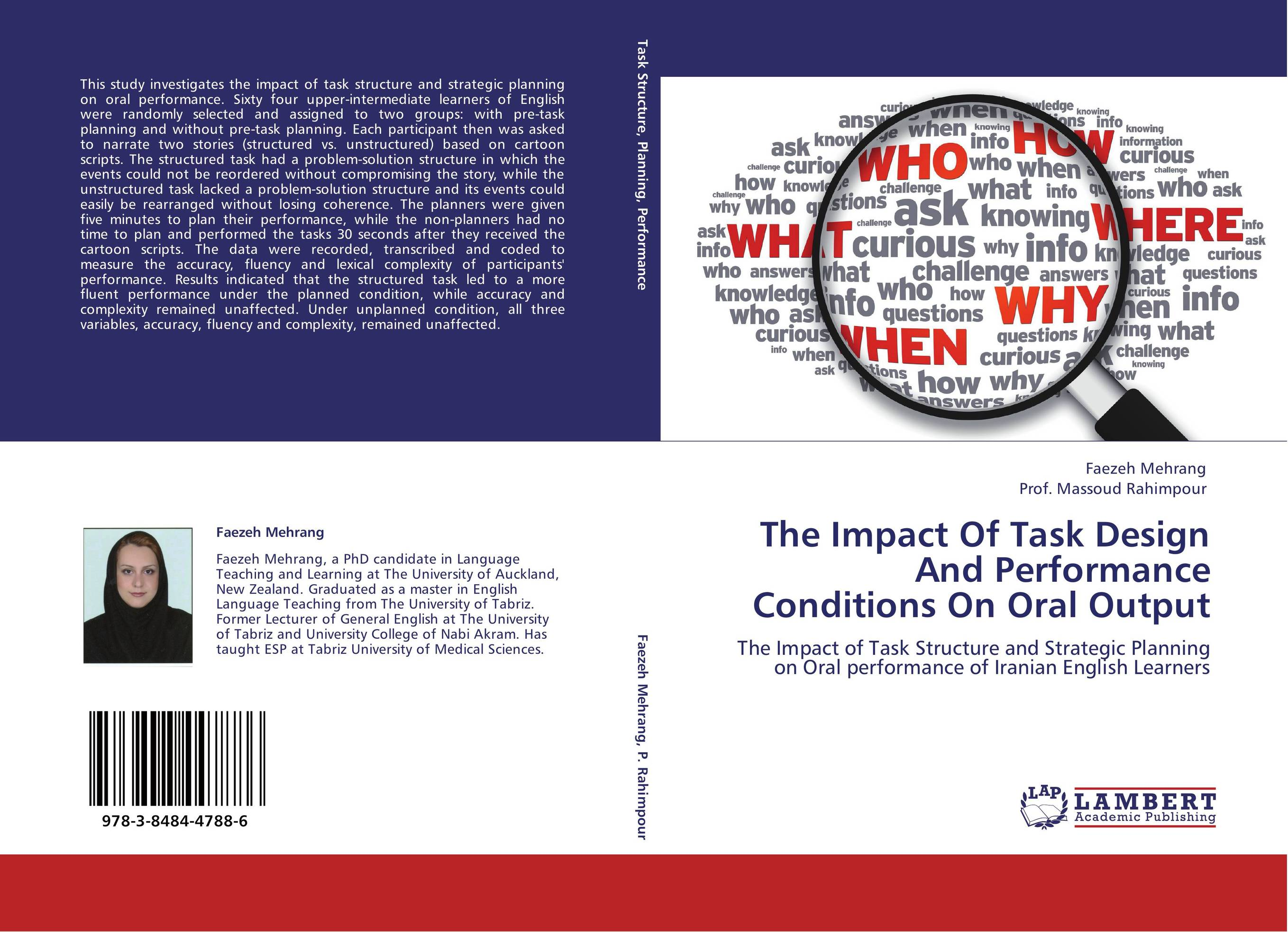9783848447886 The Impact Of Task Design And Performance Condition Oral Output