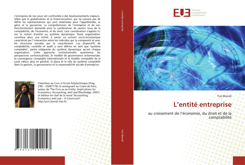 9786131502057 L''entité entreprise - Yuri Biondi