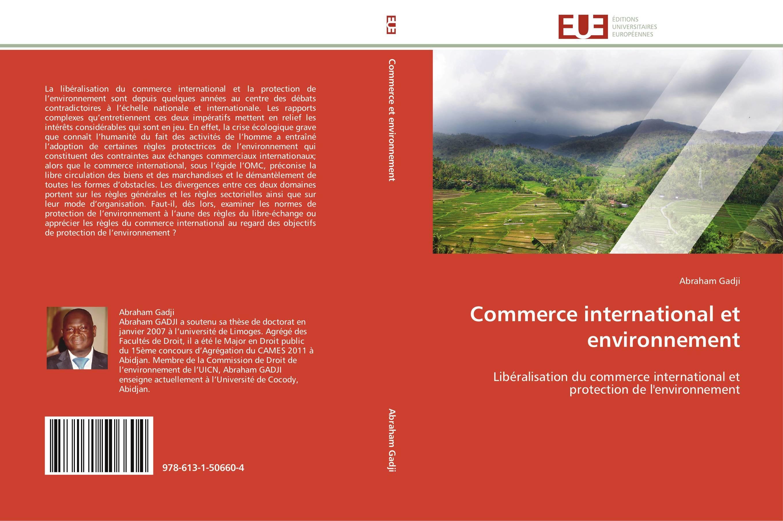 9786131506604-Commerce-international-et-environnement-Abraham-Gadji