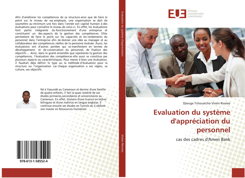 9786131585524 Evaluation du système d'appréciation du personnel - DJIEUGA TCHOUA